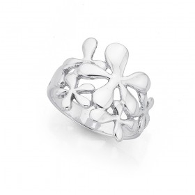Sterling-Silver-Flower-Ring on sale