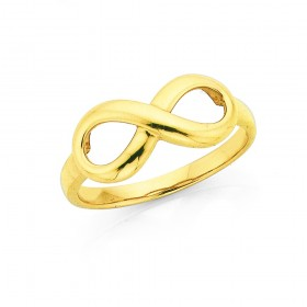 9ct-Gold-Infinity-Ring on sale