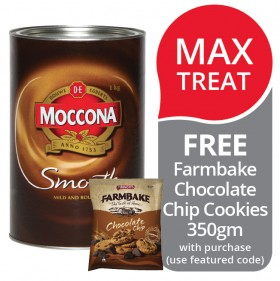Moccona-Smooth-Instant-Coffee-FREE-FARMBAKE-CHOCOLATE-CHIP-COOKIES-350GM-WITH-PURCHASE on sale