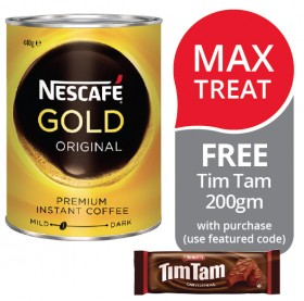 Nescaf-Gold-Original-Freeze-Dried-Instant-Coffee-FREE-TIM-TAM-200GM-WITH-PURCHASE on sale