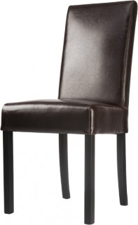 Verona-Brown-Split-Coated-Leather-Dining-Chair on sale