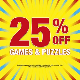 25-off-Games-and-Puzzles on sale