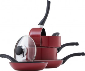 Tefal-Bistro-Red-5-Piece-Cookware-Set on sale