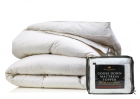 Royal-Premiere-Goose-Down-Queen-Mattress-Topper on sale