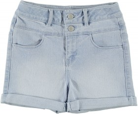 Girls-High-Waisted-Button-Shorts on sale