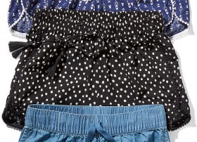 Girls-Pom-Pom-Print-Short-Black on sale