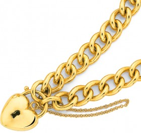 9ct-Padlock-Bracelet on sale