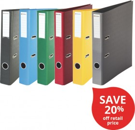 OfficeMax-A4-Coloured-Mini-Arch-Files on sale