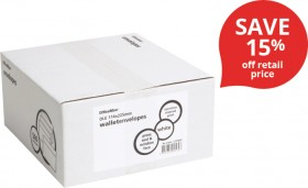 OfficeMax-DLE-White-Window-Envelopes on sale