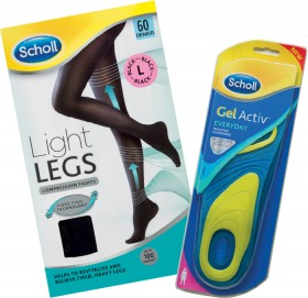 Scholl-Gel-Activ-Light-Legs-Range on sale