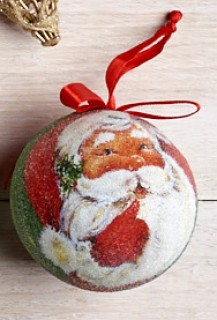 Jolly-Joy-Frosted-Santa-Bauble on sale