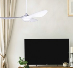 NEW-Hayman-Fan-White-with-ABS-Blades-LED-Light-132cm on sale