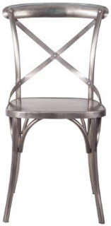 Iron-Cross-Back-Dining-Chair-Chrome-H-880-x-W-445-x-D-490mm on sale