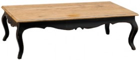 Provincial-Oak-Coffee-Table-Black-H-400-x-W-1300-x-D-750mm on sale