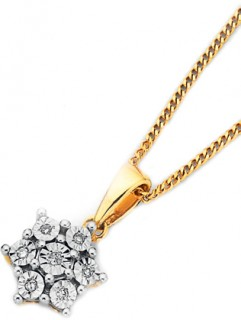 9ct-Mirror-Set-Diamond-Pendant on sale