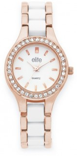 Elite-Ladies-Rose-Tone-Stone-Set-Watch on sale