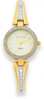 Elite-Ladies-Gold-Tone-MOP-Dial-Watch on sale