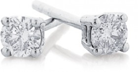 9ct-White-Gold-Diamond-Studs on sale