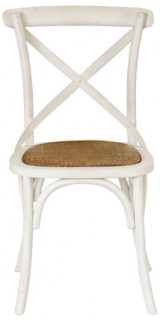 Provincial-Cross-Back-Chair-Vintage-White on sale