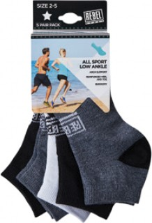 Rebel-Sport-Limited-Edition-All-Sport-Low-Ankle-Socks-Pack on sale