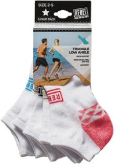 Rebel-Sport-Limited-Edition-Triangle-Low-Ankle-Socks-Pack on sale