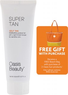 Oasis-Sun-Super-Tan-150ml-free-gift-with-purchase on sale