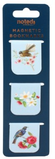 Noted-Magnetic-Bookmarks-Set-of-3-Birds on sale
