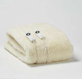 Half-Price-Sunbeam-Wool-Fleece-Electric-Blanket on sale