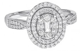 9ct-White-Gold-Diamond-Oval-Halo-Ring on sale
