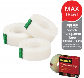 Scotch-Magic-Invisible-Tape-FREE-SCOTCH-TRANSPARENT-TAPE-19MM-33M-WITH-PURCHASE on sale
