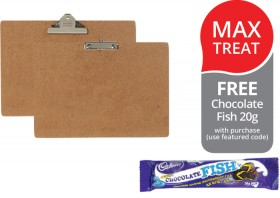 Marbig-Masonite-A3-Clipboards-FREE-CHOCOLATE-FISH-20G-WITH-PURCHASE on sale