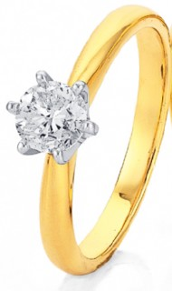 18ct-Solitaire-Diamond-Ring on sale